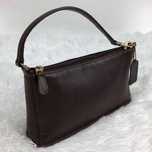 Coach Vintage Brown Leather Wristlet 9311